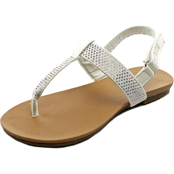 Kenneth Cole Reaction Kids Tracy Sparkle Open Toe Canvas Thong Sandal