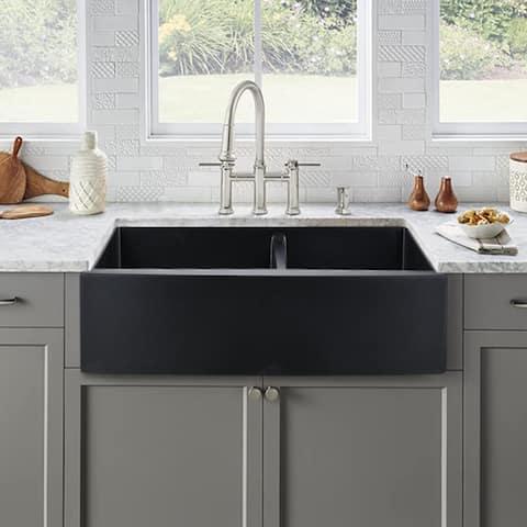 Proox Quartztone Classic Double Bowl Basin Undermount Kitchen Sink