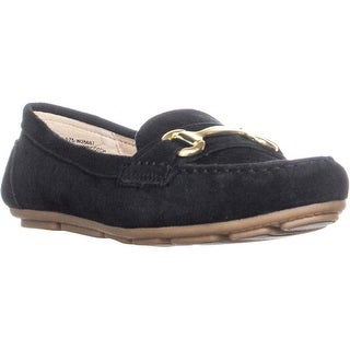 White Mountain Scotch Moccasin Loafers, Black