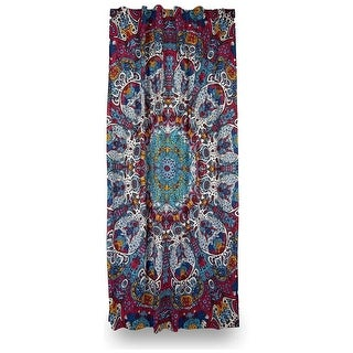 Details about Cotton Psychedelic Sunburst Glow in Dark Curtain Drape Panel 56x85 Inches