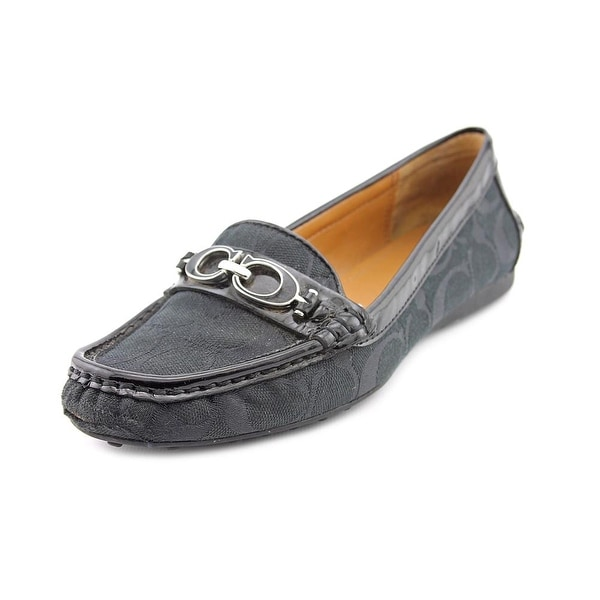 Coach Fortunata Women Moc Toe Canvas Black Loafer