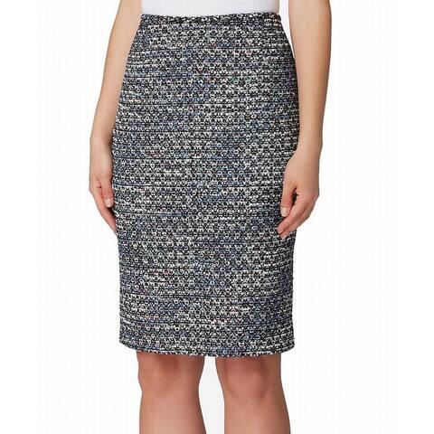 Tahari By ASL Womens Skirt Black Size 6P Petite Straight Pencil Boucle