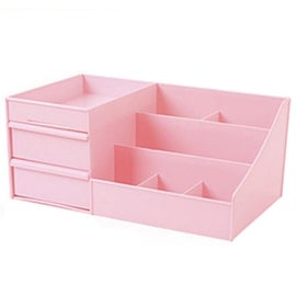 Drawer Type Organizer Cosmetic Storage Box 3127 L Pink