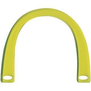 "Plastic Purse Handle 6-1/4""X5"" U-Shaped-Lime Green Translucent"