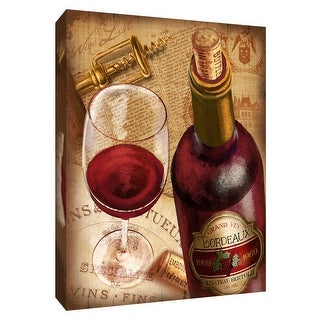 """PTM Images 9-148458  PTM Canvas Collection 10"""" x 8"""" - """"Bordeaux Wine"""" Giclee Wine Art Print on Canvas"""