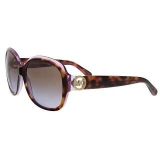 Michael Kors MK6004 300365 Kauai Purple/Havana Oval Sunglasses - 59-17-135