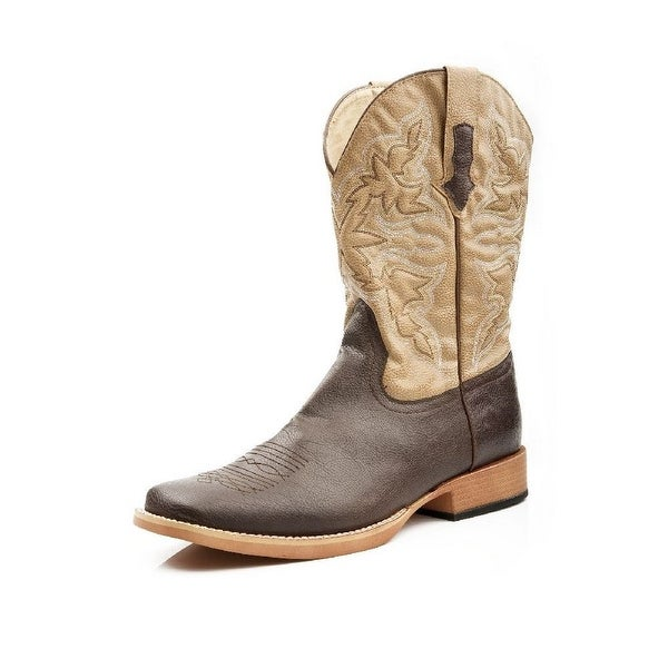 Roper Western Boots Mens Traditional Stitch Brown