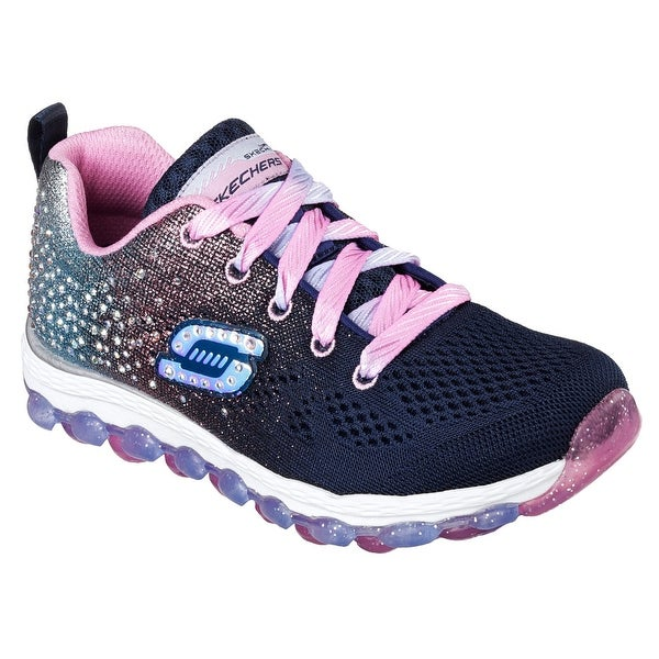 Skechers 80035 NVPK Girl's AIR ULTRA - GLITTERBEAM Sneaker