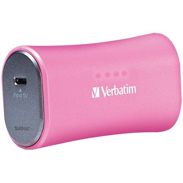 Verbatim 98361 2,200Mah Portable Power Pack (Pink)