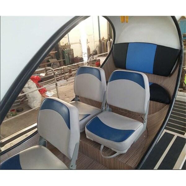 Shop Blue Folding Boat Seats Swivels Low Back UV Vinyl Seat