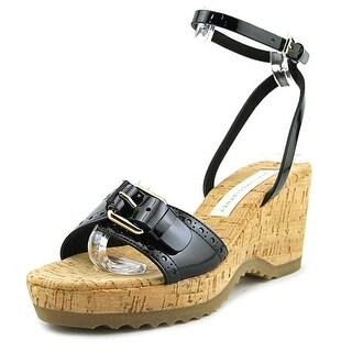 Stella McCartney Gemini  C Open Toe Leather  Wedge Sandal