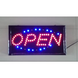 Neon Lights LED Animated Open Sign Customers Attractive Sign Store Shop Sign 110V