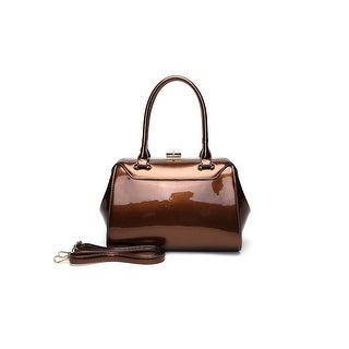 Style Strategy Hannah Patent Leather Bag Coffee