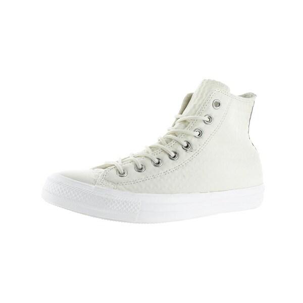 341fab526a17 Converse Mens Chuck Taylor All Star Leather Hi High Top Sneakers Skate - 3  medium (