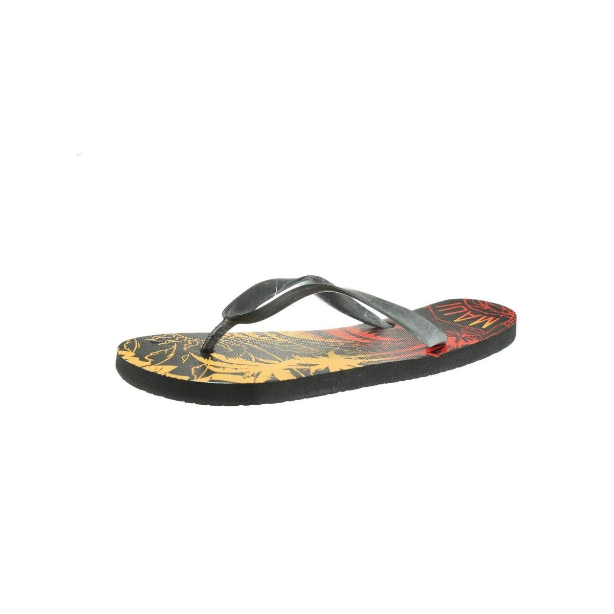 Maui and Sons Mens Flip-Flops Graphic Slide - Thumbnail 0
