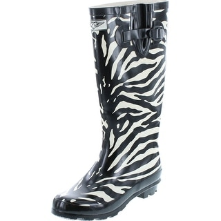 Link to Forever Young Women's Puddles Rubber Rain Boots - Safari Collection - Black Croco - Tall Similar Items in Women's Shoes