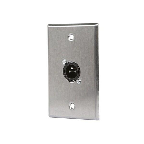 Monoprice 1-port 3-pin XLR Male Zinc Alloy Wall Plate