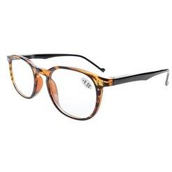Eyekepper Spring Hinges 80's Classic Reading Glasses Amber +2.0 - +2.00