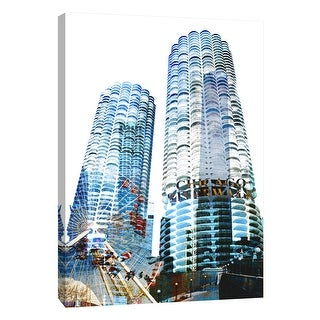 "PTM Images 9-109098  PTM Canvas Collection 10"" x 8"" - ""Marina City"" Giclee Chicago Art Print on Canvas"