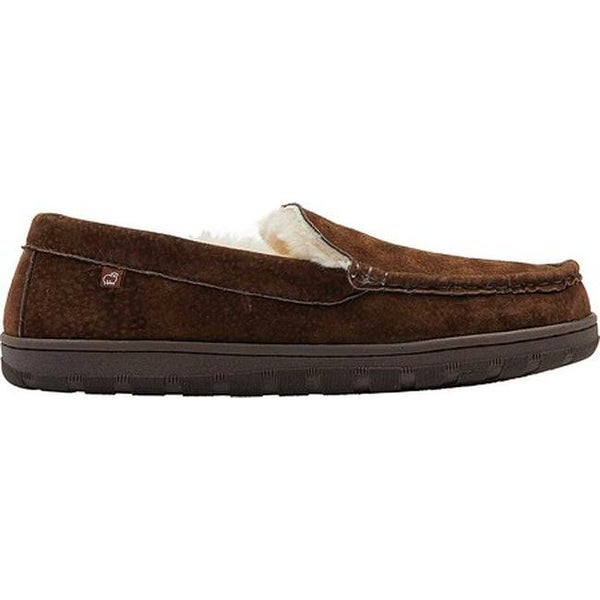 ea8d3544abcd Shop Lamo Men s Harrison Moccasin Slipper Chocolate Suede - Free Shipping  Today - Overstock - 27802411
