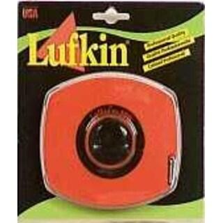 "Lufkin 100L Long Tape Rule W/High Visibility, 3/8"" x 100', Orange"