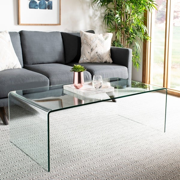 """Safavieh Willow Clear Coffee Table - 47.2"""" x 25.6"""" x 16.5"""". Opens flyout."""
