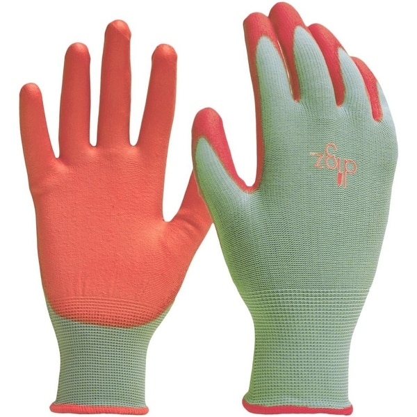 Digz 7696-26 Women's Stretch Knit Gardening Gloves, Medium, Green