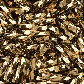 Toho Glass, Twisted Bugle Beads Size 3 9x2mm, 10 Grams, Bronze