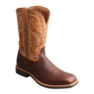 Twisted X Boots Men's MTH0021 Top Hand Cowboy Boot Tawny/Tan Leather