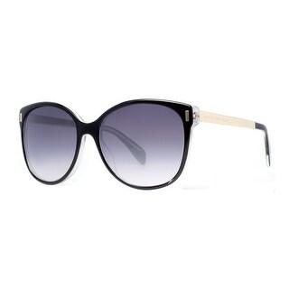 MARC BY MARC JACOBS Butterfly MMJ 464/S Women's A52 HD Shiny Black Gray Gradient Sunglasses - 58mm-17mm-135mm