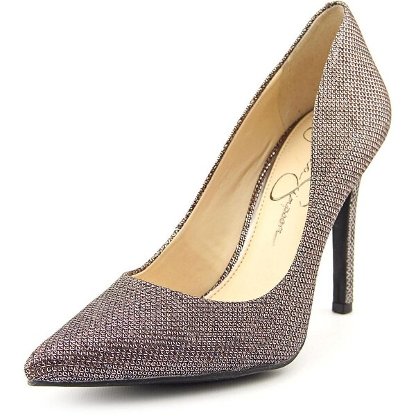 Jessica Simpson Cassani Women Pointed Toe Canvas Bronze Heels