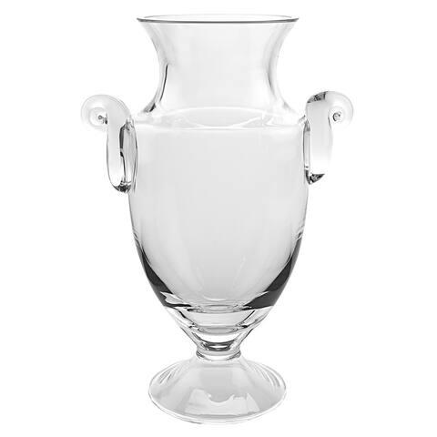"Champion European Mouth Blown Crystal 10"" Trophy Vase"