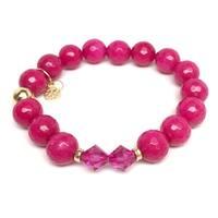 """Fuchsia Quartz Paris 7"""" Bracelet"""