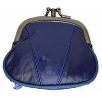 Marshal Womens Leather Kiss Lock Coin Purse