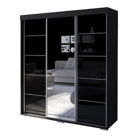 Aria Modern 3-door Wardrobe Armoire with Mirror