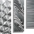 Statements2000 Silver Metal Wall Art Accent Panels by Jon Allen (Set of 5) - 5 Easy Pieces - Thumbnail 6