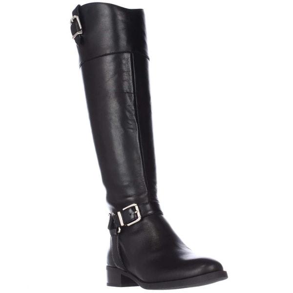I35 Fedee Harness Strap Riding Boots, Black