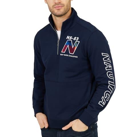 Nautica Mens Jacket Navy Blue Size XL Water Challenge Pullover 1/2 Zip
