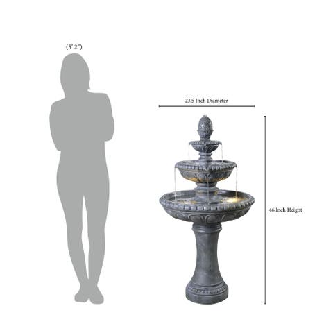 Catalina Outdoor Floor Fountain - Small & Tall Sizes / 2 Colors