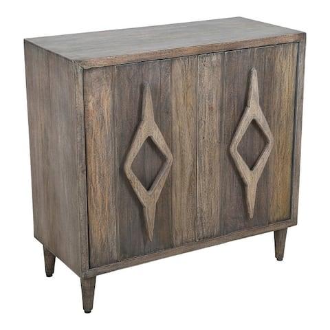 Aurelle Home Rustic Mango Wood 2-door Cabinet