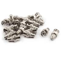 Metal BNC Male Plug to F Type Female Jack RF Coaxial Connector 1 Inch Long 20pcs