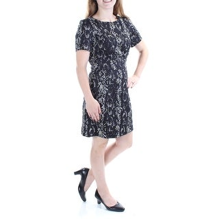 Link to FRENCH CONNECTION Black Short Sleeve Above The Knee Dress 4 Similar Items in Petites