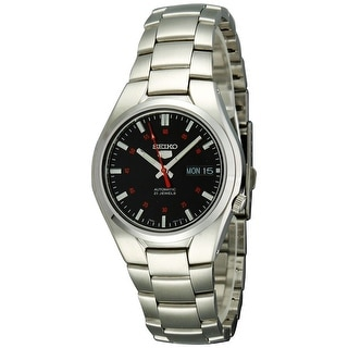 Seiko Men's 5 Automatic SNK617K Black Stainless-Steel Automatic Fashion Watch