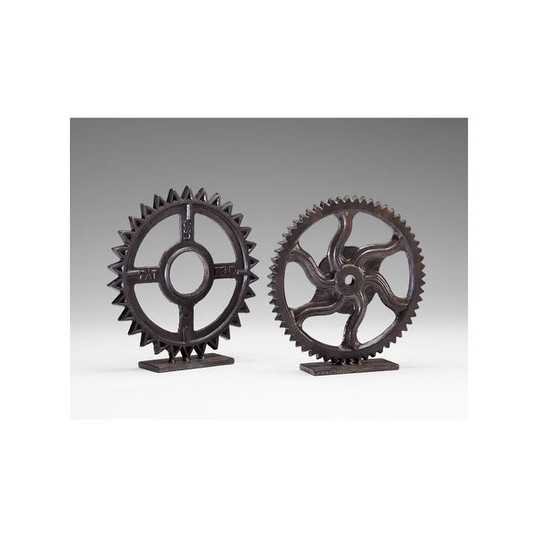 """Cyan Design 4731 11"""" Gear Sculpture - Bronze - N/A"""