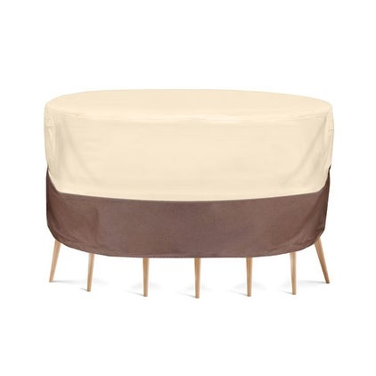 Armor Shield Patio Table & Chair Set Cover Fits Round Table & 2 Standard Chairs Upto 54'' Dia. x 23''H