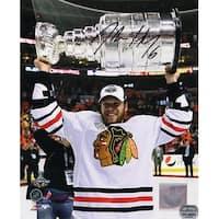 Jordan Hendry Blackhawks 2010 Stanley Cup Trophy 8x10 Photo