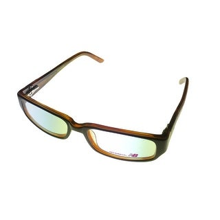 New Balance Mens Opthalmic Eyeglass Rectangle Plastic Medium Brown 431 1