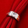 Crystal Main White Gold Crystal Center Ring - Thumbnail 2