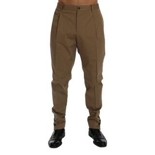 Dolce & Gabbana Beige Cotton Stretch Chinos Pants - it54-xxl