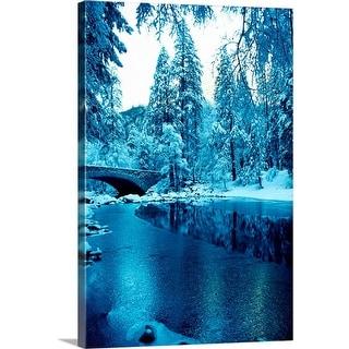 """Snow in Yosemite National Park, California"" Canvas Wall Art"